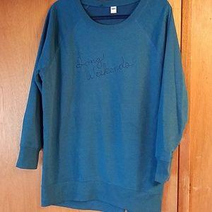 Old navy long sweatshirt